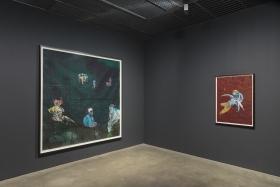 Wardell Milan: Parisian Landscapes, Blue Zenith, David Nolan Gallery, New York, 2019, installation view