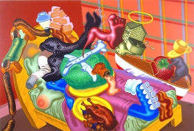 Peter Saul Still Life in the Bedroom