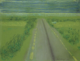 Richard Artschwager Irish Road with Striped Sky