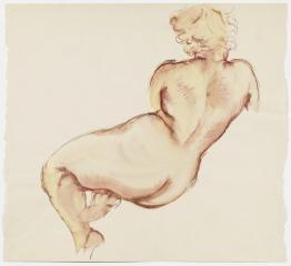 George Grosz Hockender Weiblicher Akt (Crouching Female Nude)