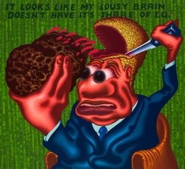 Peter Saul My Lousy Brain