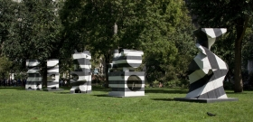 Installation view, Markers,Madison Square Park, New York, 2009