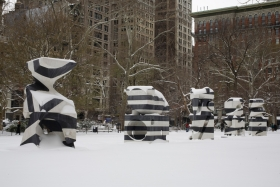 Installation view, Markers, Madison Square Park, New York, 2009