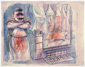 George Grosz Fleisher (Butcher)