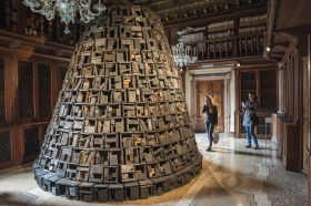 Roberto Diago's Burnt City II at 57th Venice Biennale
