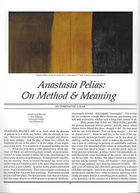 Review: Anastasia Pelias: On Method & Meaning