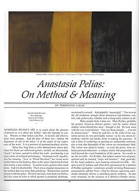 Review: Anastasia Pelias: On Method & Meaning
