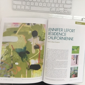 L'INCONVÉNIENT MAGAZINE REVIEWS JENNIFER LEFORT'S RECIDENCIE IN LOS ANGELES