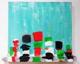 "Katherine Bradford ""Shelf Paintings"" posted in Art Blog Art Blog by Joshua Abelow"