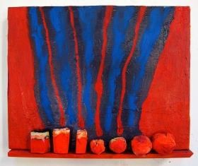 "Katherine Bradford ""Shelf Paintings"" at Arts+Leisure till Dec 14"