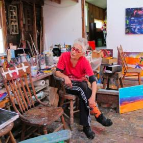 """Katherine Bradford """"Shelf Paintings"""""""