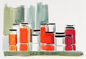 Peri Schwartz: New Watercolors and Drawings exhibition opening caught on video.