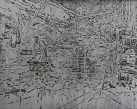 Ruina y desaparición: las obsesiones que envuelven las pinturas de Jorge Tacla