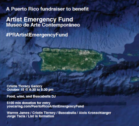 Puerto Rico Fundraiser for the Artist Emergency Fund