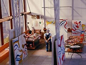 Miniature Models of Famous Artists in their Studios by Joe Fig
