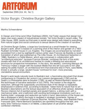 Victor Burgin: Christine Burgin Gallery