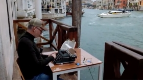 "Video | Tim Youd typing Patricia Highsmith's ""Those Who Walk Away"" at Casa Artom, Venice"