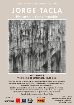 Jorge Tacla: Pinturas y Charla