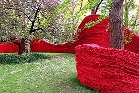Orly Genger's outdoor installation opens at deCordova in November; includes 1.4 million feet of painted rope