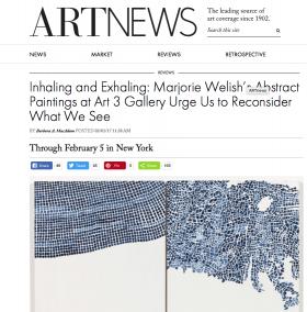 MARJORIE WELISH review in ART NEWS