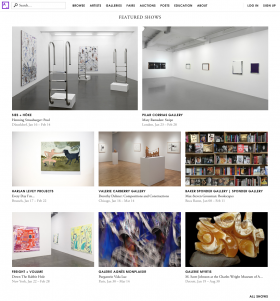 "Margaux Ogden ""Down The Rabbit Hole"" featured show on Artsy's homepage"