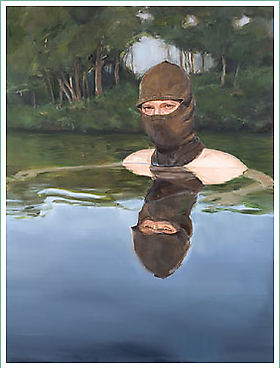 """Timothy Hull and James Everett Stanley are included in the exhibition """"Painted Faces,"""" The Mask in Contemporary Art, Kinkead Contemporary, LA."""