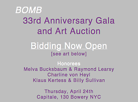 Bomb Magazine's 33rd Annual Art Auction