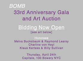 Bomb Magazine's 33rd Annual Art Auction