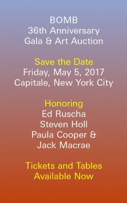 BOMB's 36th Anniversary Gala & Art Auction