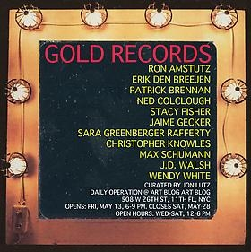 "Erik Den Breejen participates in exhibition ""GOLD RECORDS,"" curated by Jon Lutz"