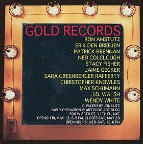 "Erik Den Breejen participates in exhibition ""GOLD RECORDS,"" curated by Jon Lutz"