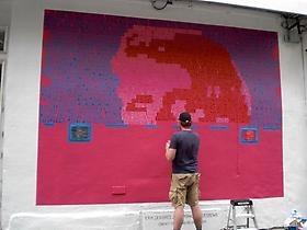 Erik den Breejen paints Rag & Bone's Houston Wall