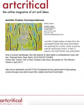 Jennifer Coates: Correspondences