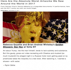 """Golden Showers: Sex Hex"" made the top ten worst artworks worldwide in 2017 list on Artnet"