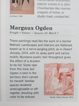 Margaux Ogden featured in BLOUIN ARTINFO