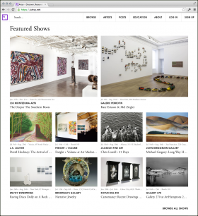 Freight + Volume's booth at Art Market Hamptons is featured in Artsy's homepage