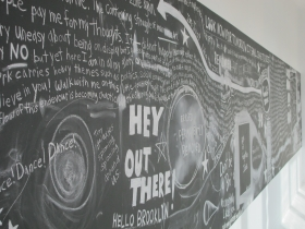 Michael Scoggins exhibits CHALK, an installation in association with Bass Museum of Art