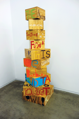 "Samuel Jablon's ""Poet Sculpture"" at the New Museum's IDEA CITY"