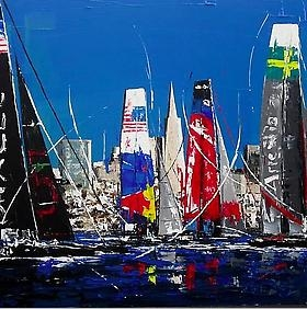 Thomas Easley creates unique pieces for Hanson Gallery Fine Art in celebration of the America's Cup