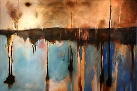 Newest Abstract Landscape by Frank Davi