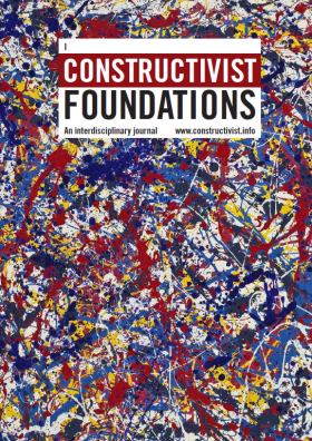 Chris Hanson's work on the Cover of July 2018 Constructivist Foundations Magazine