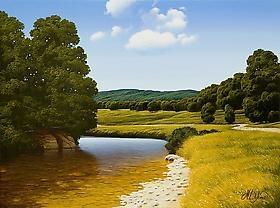 Italian Artist Marco Di Nieri brings his Landscapes to Hanson Gallery