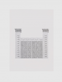 Seher Naveed  Contraption 12, 2021  Graphite on Paper  15.75 x 11.75 in