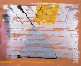 S. Harsha Vardhana UNTITLED 32 2007 Acrylic on canvas 48 x 60 in.  UNAVAILABLE
