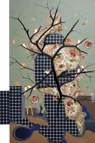 Jagannath Panda Amalgamation 2017 Mixed media on canvas 60 x 40 in.