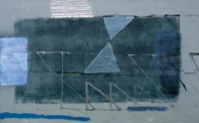 S. Harsha Vardhana UNTITLED 34 2007 Acrylic on canvas 36 x 60 in.  UNAVAILABLE