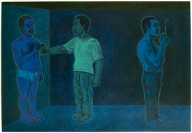 Anwar Saeed  Habits of Being I, 2010  Acrylics and charcoal on canvas  30 x 42 in