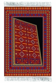 Saks Afridi Space Time Continuum 2017 Handmade wool rug 72 x 48 in.