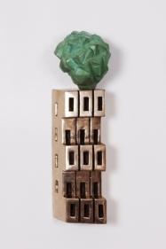 Gigi Scaria Philosopher's Stone (Detail View) 2017 Bronze 12 x 4.5 x 3.5 in. (x5)
