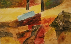 Ram Kumar ABSTRACT LANDSCAPE 3 2001 Acrylic on paper 23 x 36 in.